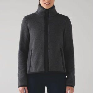 Lululemon Its Fleecing Cold Zip Up Jacket - Grey